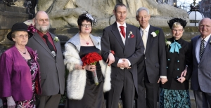 bride,groom and parents 4